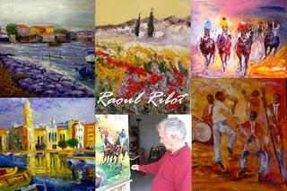 Huiles sur toiles de Raoul Ribot